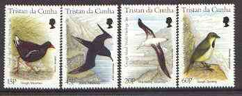 Tristan da Cunha 1996 Gough Island Birds set of 4 unmounted mint, SG 602-05*