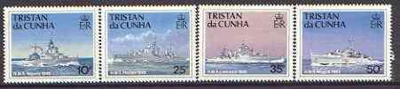 Tristan da Cunha 1994 Ships of the Royal Navy (3rd series) set of 4 unmounted mint, SG 565-68*