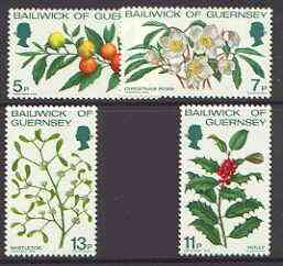 Guernsey 1978 Christmas Flowers set of 4 unmounted mint, SG 173-76