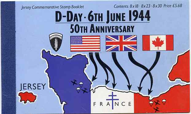 Booklet - Jersey 1994 50th Anniversary of D-Day �5.68 booklet complete and fine, SG B51