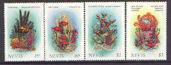 Nevis 1986 Corals (2nd series) set of 4 opt'd SPECIMEN, as SG 423-6* unmounted mint