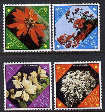 Anguilla 1979 Christmas Flowers set of 4 (SG 379-82) unmounted mint