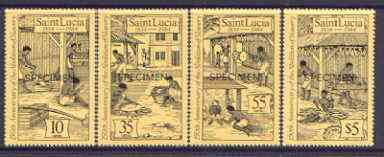 St Lucia 1984 Abolition of Slavery set of 4 opt