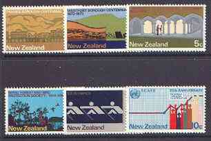 New Zealand 1973 Commemorations set of 6 unmounted mint SG 997-1002
