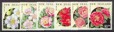 New Zealand 1992 Camellias set of 6 unmounted mint SG 1681-86