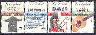New Zealand 1986 Music in NZ set of 4 unmounted mint SG 1407-10