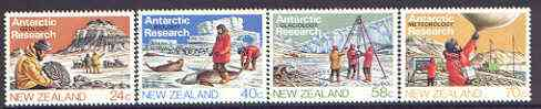 New Zealand 1984 Antarctic Research set of 4 unmounted mint SG 1327-30