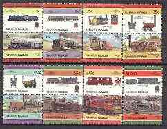 Tuvalu - Funafuti 1984 Locomotives #2 (Leaders of the World) set of 16 values unmounted mint