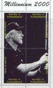 Somaliland 2000 Millennium 2000 Clinton playing Golf composite perf sheetlet containing 4 values unmounted mint