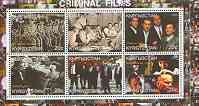 Kyrgyzstan 2000 The Cinema (Criminal Films) perf sheetlet containing set of 6 values unmounted mint