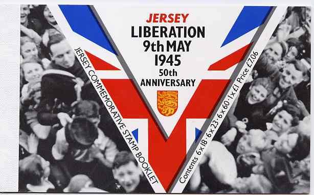 Booklet - Jersey 1995 50th Anniversary of Liberation prestige booklet complete, SG B53