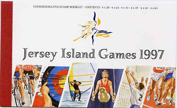 Booklet - Jersey 1997 7th Island Games prestige booklet complete, SG B55