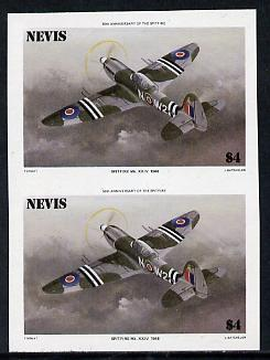 Nevis 1986 Spitfire $4 (Mark XXIV) unmounted mint imperf pair (as SG 375)