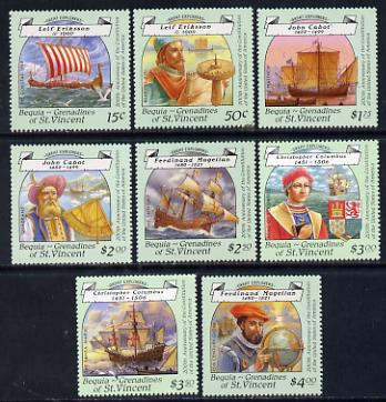 St Vincent - Bequia 1988 Explorers perf set of 8 unmounted mint*