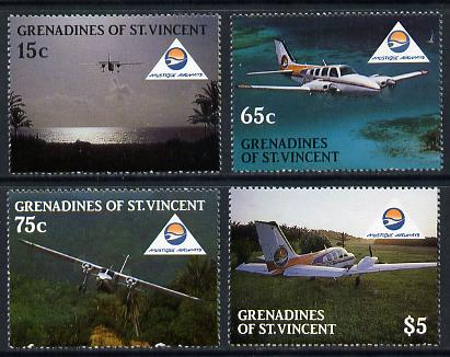 St Vincent - Grenadines 1988 Mustique Airways set of 4 unmounted mint SG 559-62