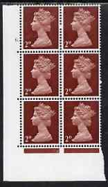 Great Britain 1967-70 Machin 2d cylinder block of 6 (Cyl 6 dot) unmounted mint