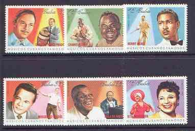 Cuba 1999 Cuban Musicians set of 6 unmounted mint, SG 4332-37*