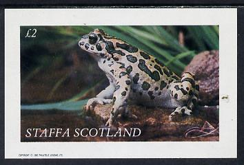 Staffa 1982 Frogs imperf deluxe sheet (�2 value) unmounted mint