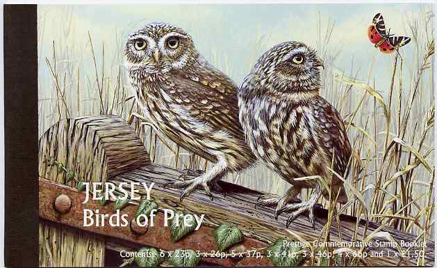 Booklet - Jersey 2001 Birds of Prey \A310.78 prestige booklet complete, SG B59