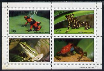 Eynhallow 1981 Frogs perf set of 4 values (10p to 75p) unmounted mint