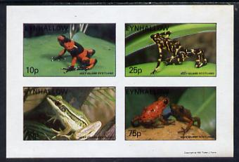 Eynhallow 1981 Frogs imperf set of 4 values (10p to 75p) unmounted mint