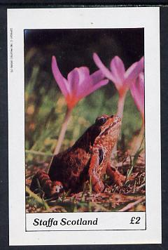 Staffa 1982 Frog imperf deluxe sheet (�2 value) unmounted mint