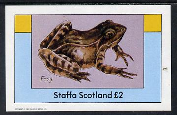 Staffa 1982 Animals (Frog) imperf deluxe sheet (�2 value) unmounted mint