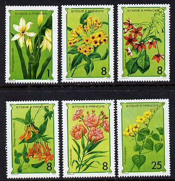 St Thomas & Prince Islands 1979 Flowers set of 6 unmounted mint