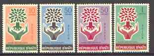 Haiti 1960 World Refugee Year set of 4 unmounted mint, SG 677-80*