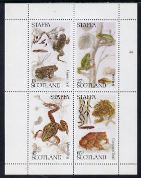 Staffa 1979 Frogs perf set of 4 values (13p to 65p) unmounted mint