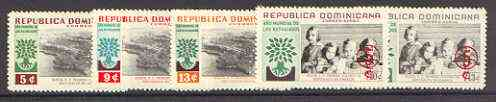 Dominican Republic 1960 World Refugee Year surcharged set of 5 unmounted mint, SG 805-809*