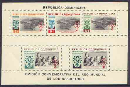 Dominican Republic 1960 World Refugee Year surcharged perf m/sheet unmounted mint, SG MS 810