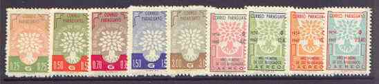 Paraguay 1960 World Refugee Year (1st issue) set of 9 unmounted mint, SG 870-78*