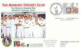 Great Britain 1999 The Bunbury Cricket Club (v Norma Major's XI) illustrated cover with special 'Cricket' cancel
