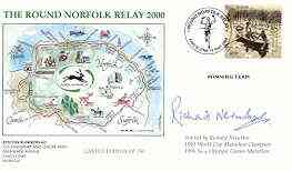 Great Britain 2000 Round Norfolk Relay Race illustrated cover with special