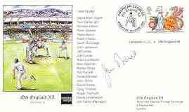 Great Britain 1999 Old England XI (v Lampeter CC) illustrated cover with special 'Cricket' cancel, signed by Jim Parks (manager)