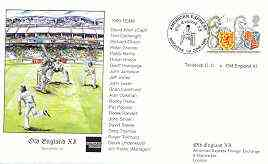 Great Britain 1999 Old England XI (v Tavistock CC) illustrated cover with special 'Cricket' cancel