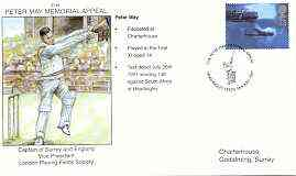 Great Britain 1997 Peter May Memorial Appeal illustrated cover with special 'Cricket' cancel