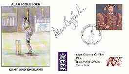 Great Britain 1998 Alan Igglesden Testimonial illustrated cover with special 'Cricket' cancel, signed by Alan Igglesden