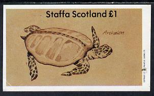 Staffa 1982 Prehistoric Marine Life (Archelon) imperf souvenir sheet (�1 value) unmounted mint