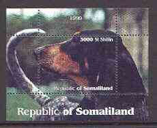 Somaliland 1999 Dogs #1 perf souvenir sheet unmounted mint