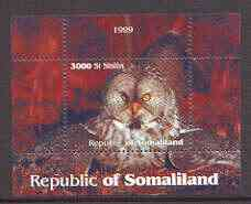 Somaliland 1999 Owls perf souvenir sheet unmounted mint