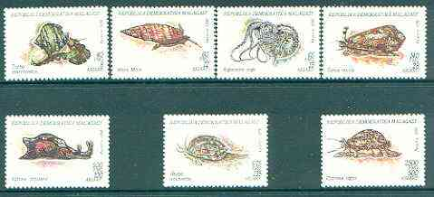 Madagascar 1993 Molluscs complete set of 7 unmounted mint, SG 1100-06*
