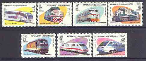 Madagascar 1993 Locomotives perf set of 7 unmounted mint SG 1117-23*