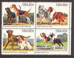 United States 1984 Centenary of Kennel Club se-tenant block of 4 unmounted mint, SG 2098a
