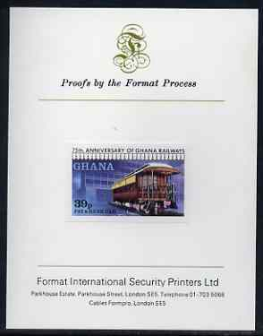 Ghana 1978 Pay & Bank Car 39p (from Railways set) imperf proof mounted on Format International proof card, as SG 869