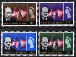 Gilbert & Ellice Islands 1966 Churchill Commem perf set of 4 unmounted mint, SG106-9