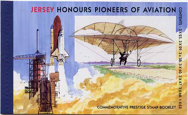 Booklet - Jersey 2003 Centenary of Powered Flight prestige booklet complete, SG B62