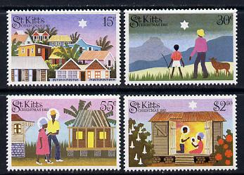 St Kitts 1983 Christmas set of 4 unmounted mint (SG 134-7)