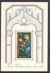 Germany - West Berlin 1977 Christmas (Stained Glass Window) m/sheet unmounted mint SG MS B544